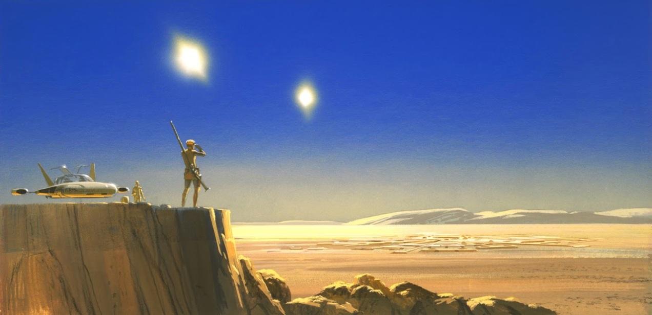 l'enigma di Luke Skywalker-binary sunset